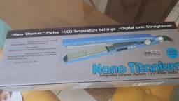 Prancha de cabelo nano titanium