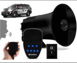 Sirene Automotiva 7 Tons Microfone Policia Bombeiro Techone