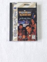 Wrestlemania The Arcade Game Completo para Sega Saturn - Longbox