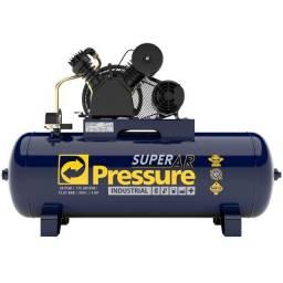 Compressor de Ar 20 Pés 175 PSI 200 Litros Trifásico 220/380V - Pressure- *2