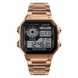 Relógio Feminino Tuguir Digital TG1335 Vintage - Rose e Preto