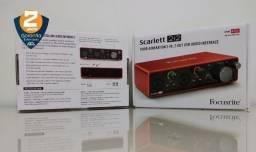 Original - Interface de Áudio Focusrite Scarlett 2i2 de 3ª Geração + NF e Garantia