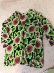 Blusa estampada feminina P