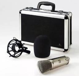 Microfone behringer B2 pro cardióide e omnidirecional dourado