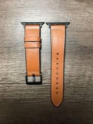 Pulseira Apple Watch couro marrom