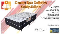 Cama box Solteiro Ortopédica / Frete à consultar