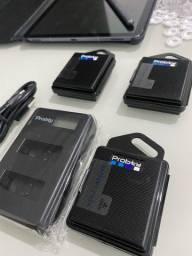 Carregador + 3 baterias para Gopro