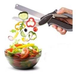 Tesoura 2 Em 1 Cortar Fatiar Legumes Verduras Cozinha