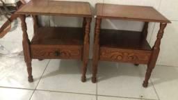 Vendo estes 02 criado mudo de madeira ( Angelin ) com 02 gaveta.