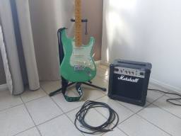 Guitarra tagima TG530 woodstock series + Amplificador Marshall MG10CF + cabo P10 + cinto