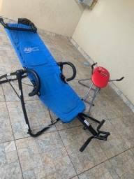 Cadeiras para malhação AB stretch flexão e cadeira AB abdominal.