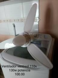 Ventilador teto 110v ventisol 130w potencia