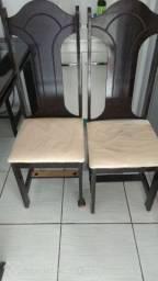 Mesa de jantar 6 cadeiras  de vidro