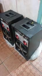 Caixa de Som Amplificada TRC-348 com Entrada USB/SD