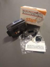 Fechadura elétrica Stam abre p/dentro 40mm grafite novo