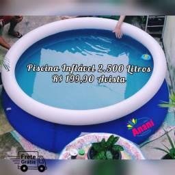 Piscina inflável - 2.500 litros - ENTREGA GRÁTIS