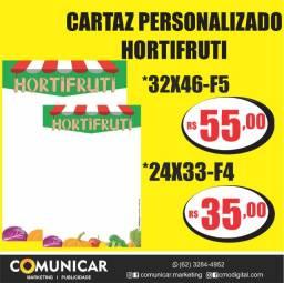 Cartaz Personalizado Hortifruti