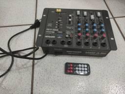 Mesa de som analógica 4 canais