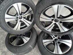 Roda 15 T.R.E.V.O zeradas +pneus Meia vida de brinde 1,100 ac/13,14,15