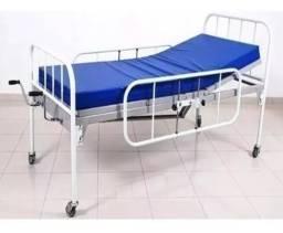 Cama hospitalar com colchão muito nova