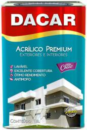 Tinta Acrílica Dacar Premium Lavável 18L