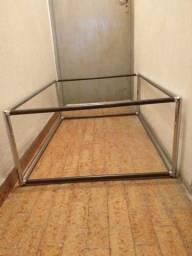 Mesa de centro ferro 80x1.10 e 0.40 alt.sem vidro