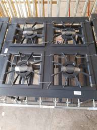 Fogão industrial 4 bocas 40x40- Perfil grande