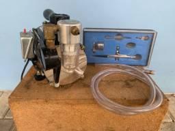 Mini Compressor de pintura com kit de Aerógrafo