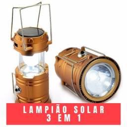 Lampião Solar 3 Em 1 - 12x de R$4,00