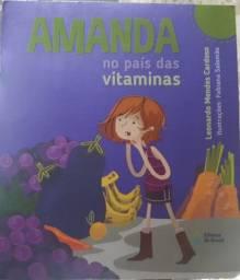 Livro Amanda no país das vitaminas