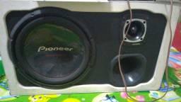 Caixa selada sub 12 e amplificador 400w rms