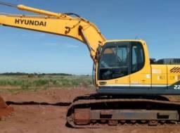 Escavadeira parcelada