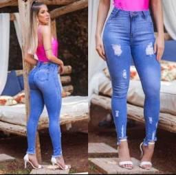 calças jeans para mulher cintura alta revenda ou uso pessoal lycra elastano