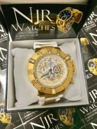 Relógio Invicta subaqua noma III branco novo