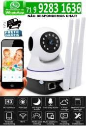 Câmera IP 3 Antenas Wifi 3ª Geração Visão Noturna