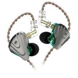 Kz ZSX, 12 Drivers (5BA + 1DD) + Borrachinhas de molde no ouvido + Case