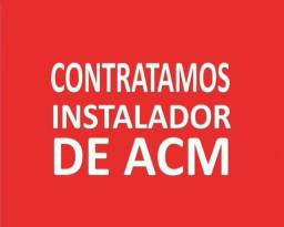 Título do anúncio: Contratamos Instalador de ACM
