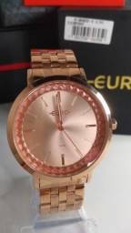 Relógio Feminino Euro Rosê