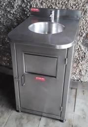 Lavatório Inox Com Gabinete