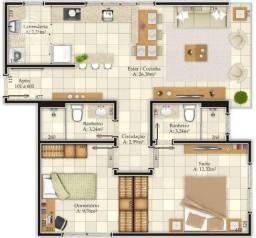 Apartamento à venda, 79 m² por R$ 1.022.408,56 - Centro - Florianópolis/SC