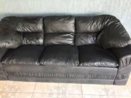 Sofa 3 lugares preto