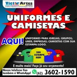 Uniformes e camisetas personalizados