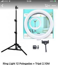Ring light 12 + tripe de 26 metros