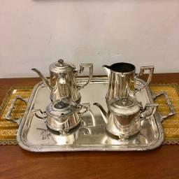 conjunto 5 Peças em Prata Fracalanza para Café e Chá