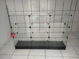 Balcão de vidro 1,50x1,00 novo