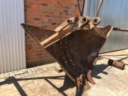 Concha trapezoidal para escavadeiras cat 320