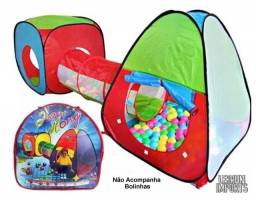 Barraca Infantil Toca 3x1 Com Túnel Melhor Preço + Brinde