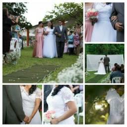 Vestido de noiva em tule e renda