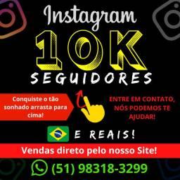 Seguidores Instagram (1K) - Brasileiros - Ativos - Reais