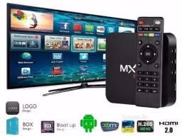 Smart Tv Box Mxq Pro Android 7.1 Aparelhos Via Internet Desbloqueado Sem Mensalidade